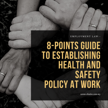 8-Points Guide To Establishing Health and Safety Policy at Work