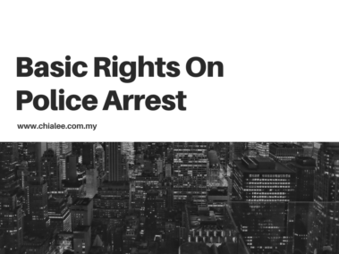Basic Rights On Police Arrest