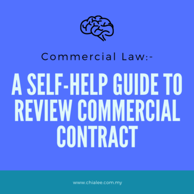 Commercial Law: A Self-Help Guide to Review Commercial Contract